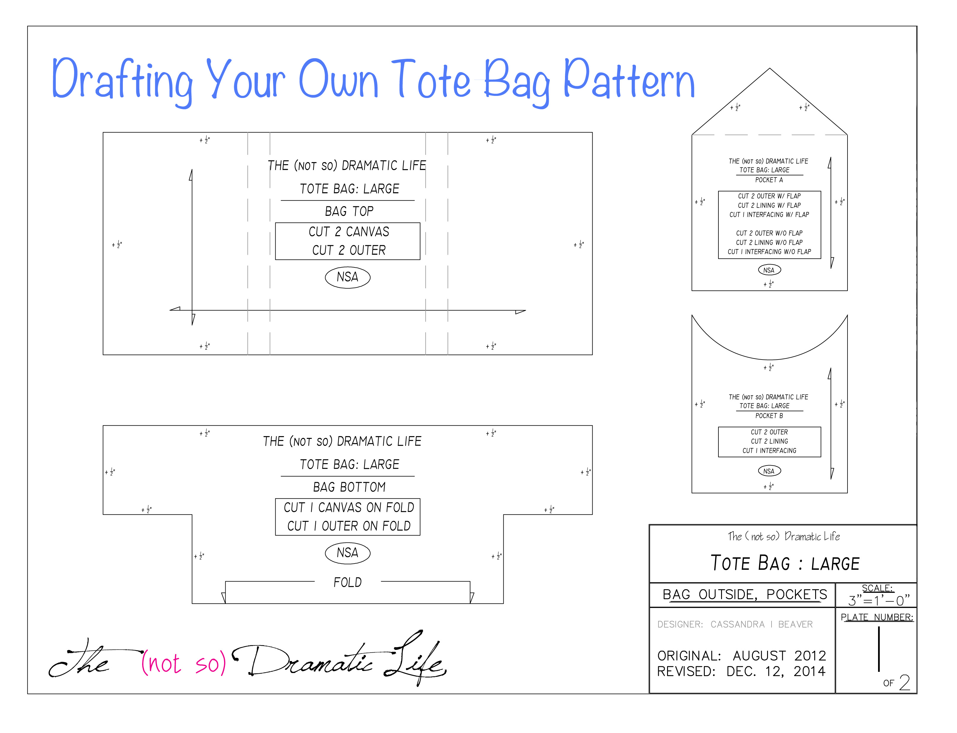 tote bag tutorial part 2 creating the pattern the not so
