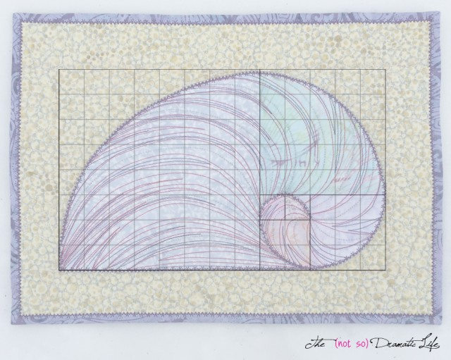Fibonacci on the Seashore with Grid Overlay