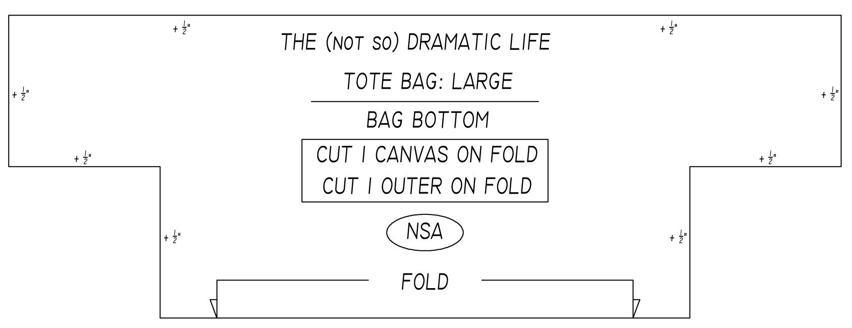 Tote Bag Tutorial Part 2 Creating The Pattern The Not