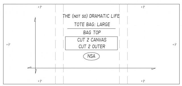 Tote bag pattern: Bag Top