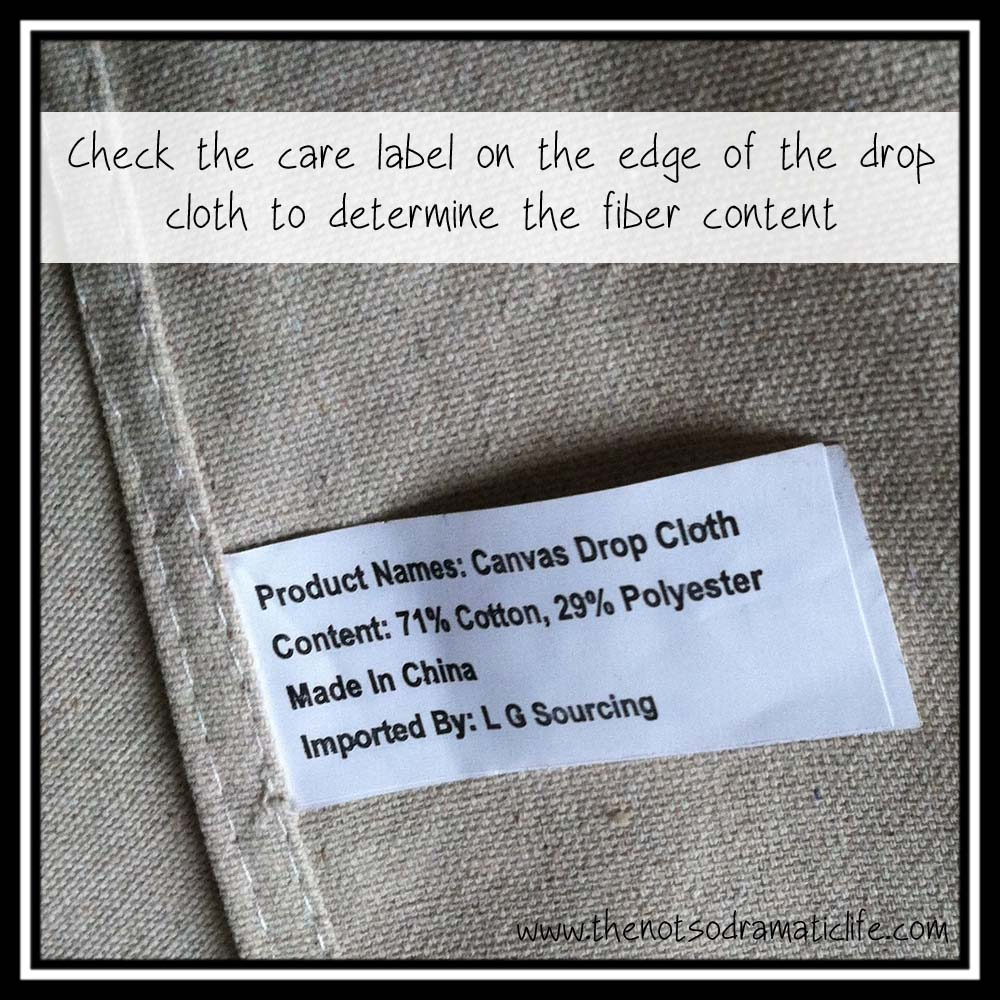 lay your drop cloth out flat on the floor or a table if you are lucky enough to have a surface the cloth can lay completely flat without hanging over the