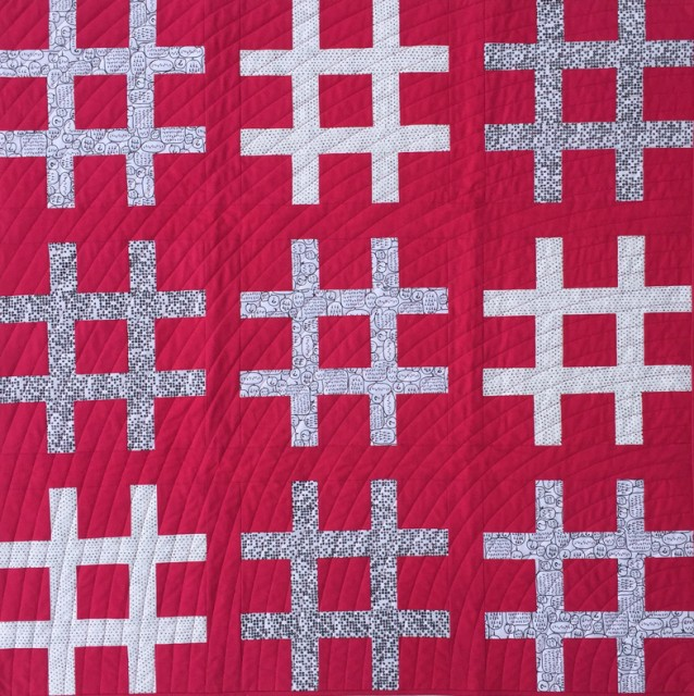 Sweet and Simple Hashtag Quilt