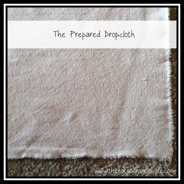 Prepared Dropcloth