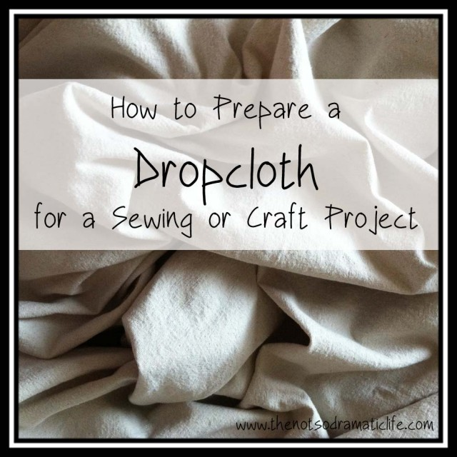 Preparing a Dropcloth