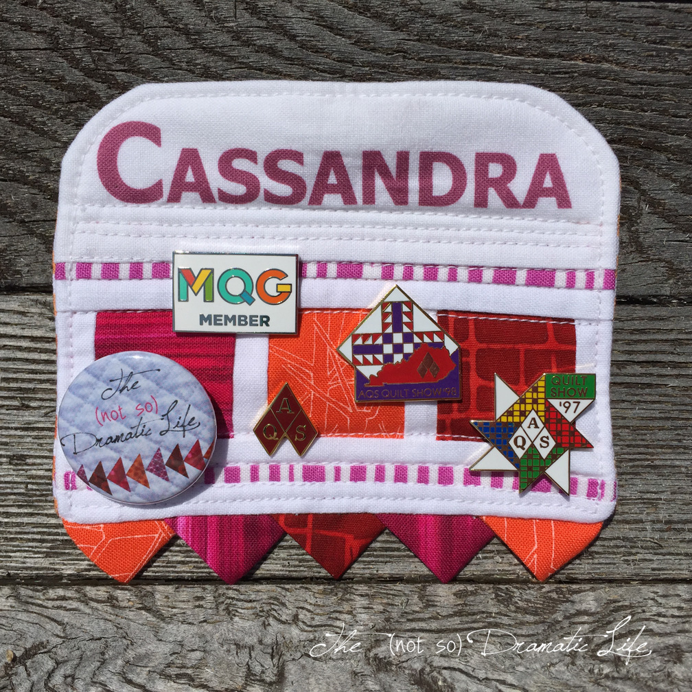 fabric modification | The (not so) Dramatic Life : quilting name tags - Adamdwight.com