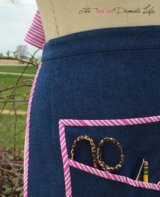 Sewing Apron detail
