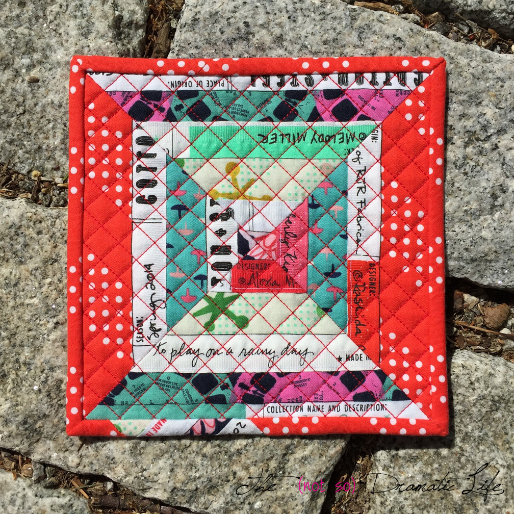 End Of Our Rope (uh- Fabric)- A Selvage Mug Rug: Mini