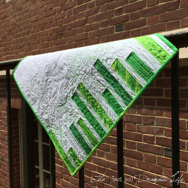 Green Graffiti Mini Quilt