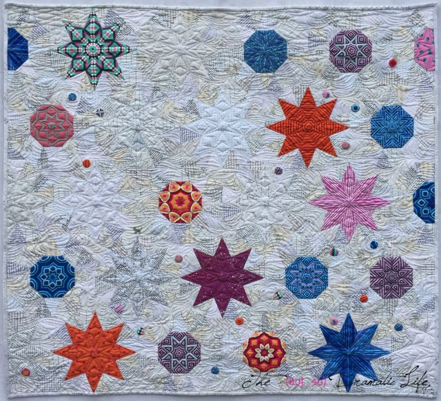 Star Crossed Triangles:  A MQG EZ Quilt Triangle Challenge Quilt