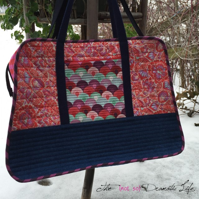 Carry on Bag for QuiltCon 2016 front view