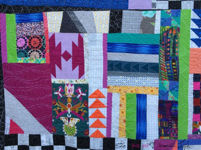 The section of the improv quilt that came out of the class