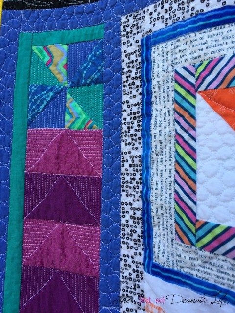 Modern Improv pinwheel and quilted geese