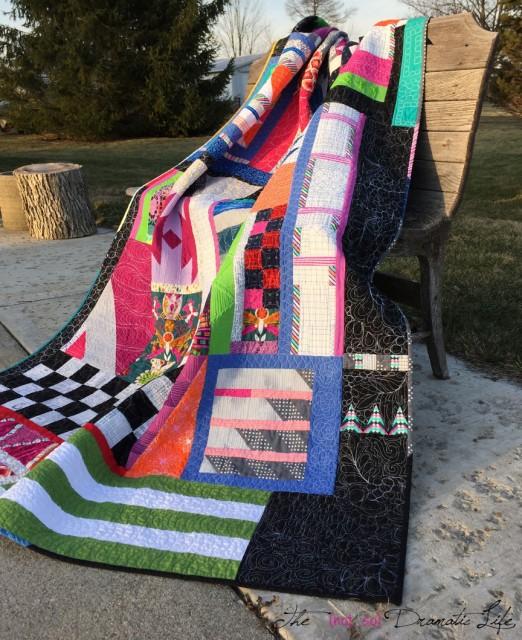 Modern Improve Quilt draped