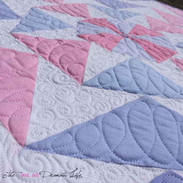 Detail Finished EPP Challenge Quilt