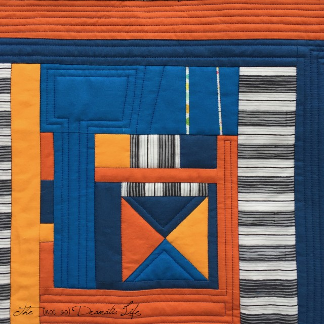 Complementary Composition Echo Quilting
