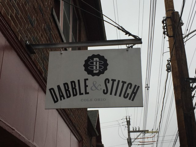 Dabble and Stitch Sign