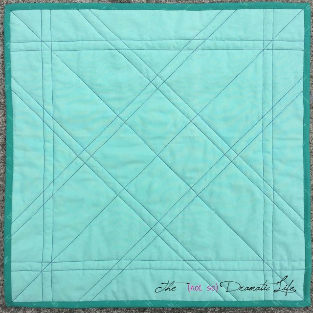 Simple Mini Quilt Back