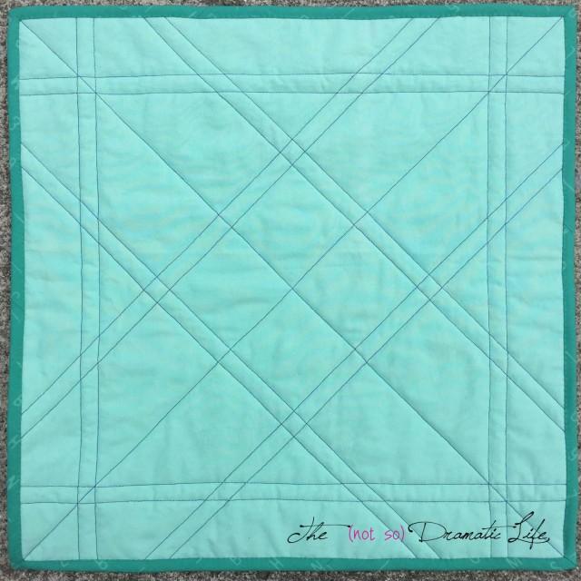 Simple Mini Quilt Back