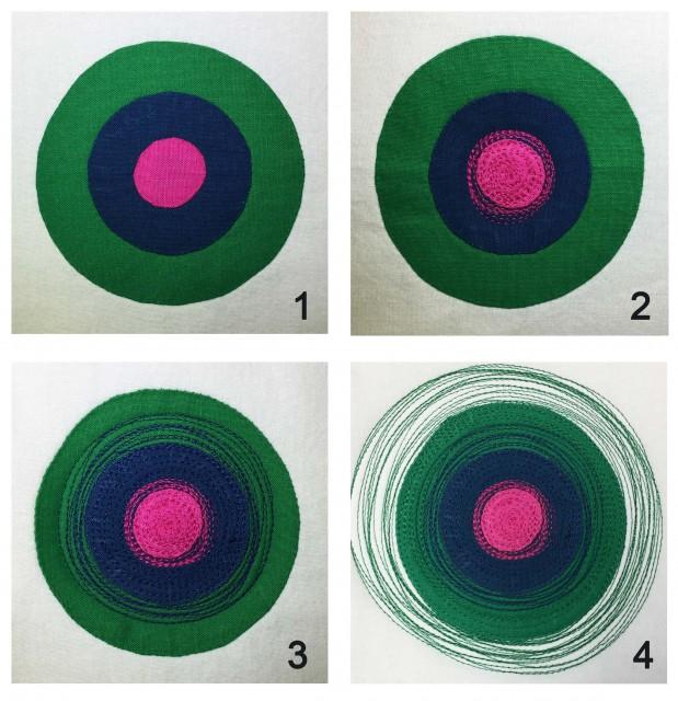 Circle Quilting Process
